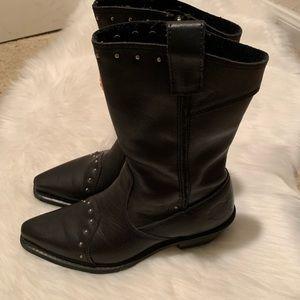 Harley-Davidson Shoes - Harley Davidson women black leather boots, 5 1/2